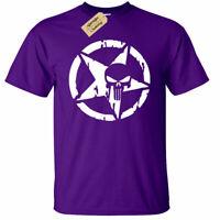 KIDS BOYS GIRLS Skull Pentagram Punisher T-Shirt distressed biker