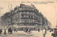 CPA 75 PARIS IIIe CARREFOUR DU BOULEVARD SEBASTOPOL ET DE LA RUE TURBIGO