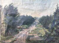 LISTED ARTIST SIGURD KIELLAND-BRANDT (1886-1964) LANDSCHAFT - ZUM RESTAURIEREN