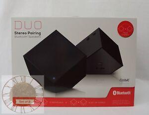 iWave DUO Stereo Pairing Bluetooth Speakers (Black) SP58087-BK, New