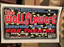 The WALLFLOWERS – April 19th, 1997 – CRYPTOGRAPHICS  Rare POSTER  glow in dark!