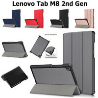 Case For Lenovo Tab M8 (HD) 2nd Gen 2019 Leather Magnetic Stand Book Smart Cover
