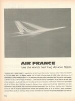 1964 Original Advertising' American Air France Company Aerial Long Distance