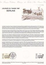 Document Philatélique Timbre 1er Jour : 14/03/ 1987 - Journée du Timbre Berline