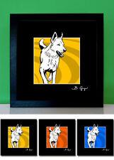 Weißer Schäferhund Berger Blanc Suisse Bilder Pop-Art Foto Bild Poster Portrait