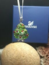 New 85$ Colored Christmas Tree Swarovski Crystal Figurines Ornament Austria Box