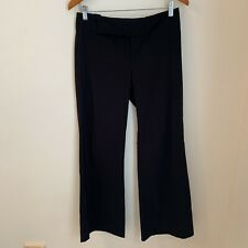 CUE Women's Black Flare Work Corporate Trousers Pants Size 10