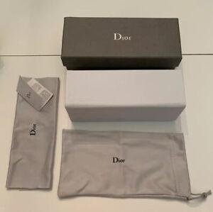 Dior Glasses / Sunglasses Case, Cloth, Pouch & Box - 15.5 X 5.5 X 5 cm - NEW