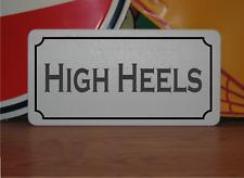 "High Heels Metal Sign 6""x12"" Vintage Design"