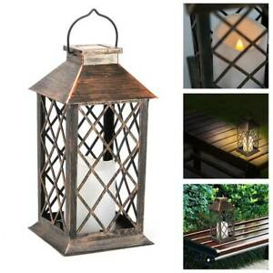 Solar Powered LED Hanging Candle Lantern Light - Waterproof Garden Outdoor