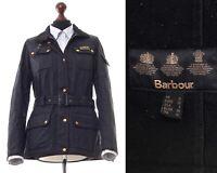 Womens BARBOUR INTERNATIONAL Quilted Quilt Jacket Coat Black Size UK 12 US 8