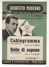 Spartito GIOVANNI FENATI Cablogramma - Bolle di sapone 1955 Sheet music