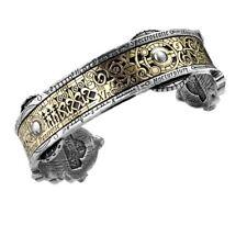 Alchemy Gothic Spectrostatic Nocturnium Pewter Etched Brass Steampunk Bracelet