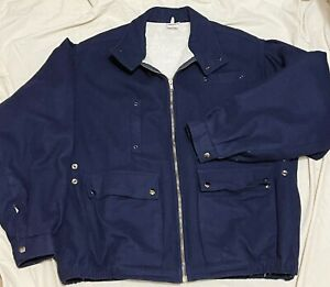 BENETTON Jacket Mens VINTAGE 1980s Wool Fleece Lined MADE IN ITALY 48 LARGE RARE