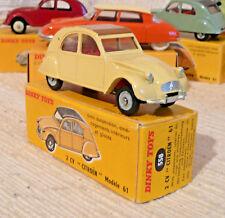 Superbe Vraie Dinky toys France Citroen 2CV 558 état rare + boite origine
