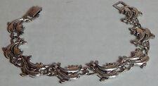 Vintage Dolphin Porpoise Bracelet Silverplate Link
