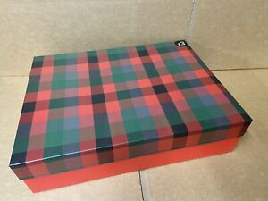 4 x LARGE TARTAN GIFT BOXES PRESENT CHRISTMAS GIFTS JOBLOT SHOP FRAME NEW XM25