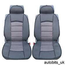 UNIVERSAL PREMIUM GREY BLACK Car Seat Cover Cushion Pair