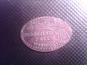 ELONGATED PENNY   SNOQUALMIE   FALLS   WASHINGTON     EDG232