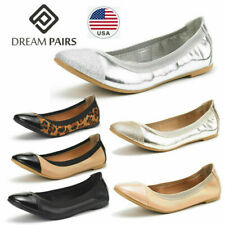 DREAM PAIRS Women's Ballerina Ballet Flats Classic Pointed Toe Slip On Shoes
