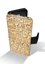 Ägyptische Hieroglyphen Design Lederhülle Handy Hülle