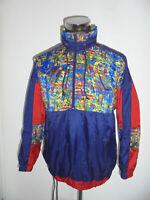 vintage Schlupfjacke Nylon Regenjacke oldschool crazy pattern 80er glanz Jacke M