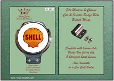 Royale Car Bar Badge + fittings  SHELL MOTOR OIL VINTAGE 1960's EMBLEM - B1.2923