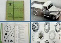 Hanomag Typ L28 L-L28 2t-L28 Diesel Schnellastwagen Ersatzteilliste 11/1952