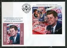 NIGER 2018 55th MEMORIAL ANNIVERSARY OF JOHN F. KENNEDY IMPERF S/SHEET FDC