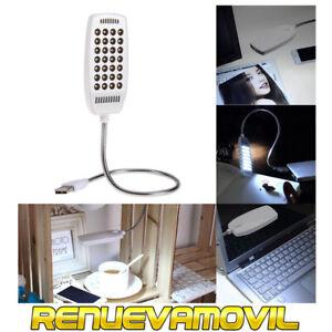 Lampara Con Luz Brillante Blanca 28 Led USB Ordenador Portátil PC Lectura Libro