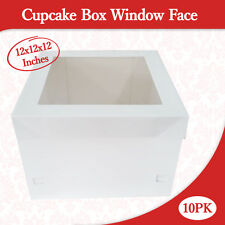 Cupcake Box Window Face 12x12x12 Inches High 10PK  Wedding Cake Box Cake Boxes