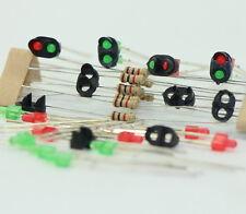 JTD12 10 Stk. Signale LED rot/grün DIY Ampeln Spur N / Z NEU