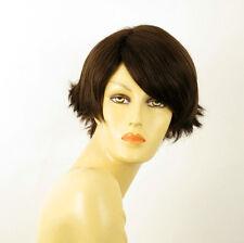 Perruque femme 100% cheveux naturel châtain ref CLARA 6