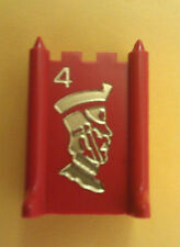 1975 Stratego Board Game Parts: Army Piece #4 RED MAJOR