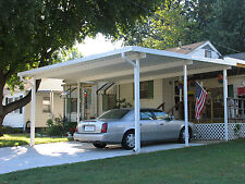 20' x 20' Wall Attached  Aluminum Carport Kit (.019), Patio Cover Kit