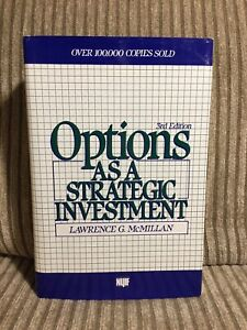 Options As A Strategic Investment 3rd Edition Hardcover Lawrence G McMillan Book