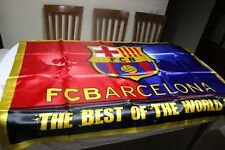 BANDERA NUEVA OFICIAL F.C BARCELONA COMO MEJOR EQUIPO DEL MUNDO THE BEST OF THE