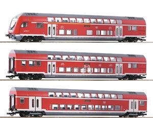 Roco 74150 - 3-tlg. Set: Doppelstockwagen, DB AG, Beleuchtung, DSS, NEUHEIT 2021