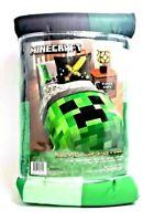 Minecraft Bedding Set For Boys Comforter Twin Full Sham Reversible Creeper 2 Pc