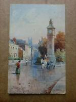 TUCK OILETTE BARNSTAPLE THE SQUARE by Artist H B Wimbush DEVON Postcard 1908