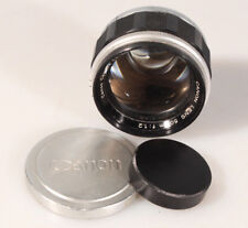CANON RANGEFINDER 50MM F 1.2 SCREW MOUNT M39 RF LENS W/ FRONT AND REAR CAPS
