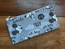 HANDMADE PENCIL MAKE UP GLASSES CASE - DISNEY MICKEY MOUSE & FRIENDS FABRIC
