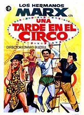 UNA TARDE EN EL CIRCO PRESS BOOK BROCHURE ORIGINAL) LOS HERMANOS MARX