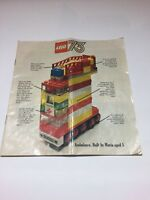 LEGO 1973 large folder catalogue leaflet brochure 16 page Retro Vintage Legoland