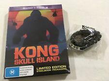 Kong: Skull Island (Blu-ray Disc, 2017, Steelbook)