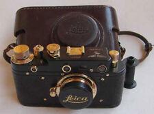 Leica III Luftwaffe Z copy black-gold in leather case (FED copy)