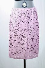 Oscar de la Renta perforated beaded leather skirt, 12 would fit to 10
