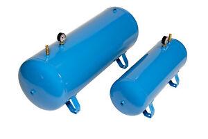 Horizontal Air Receivers / Tanks / Vessels 11 bar 10 - 500 litres Blue Paint