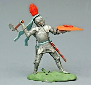 """Britains #1474 """"Swoppet"""" C15th Knight With Axe, LIGHT BLUE Favour...!!"""