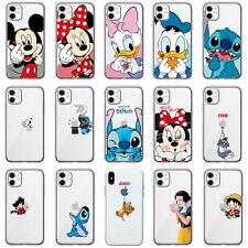 CARTOON TPU SILICONA FULL CARCASA FUNDA PARA IPHONE 7 8 PLUS XR XS 11 Pro Max
